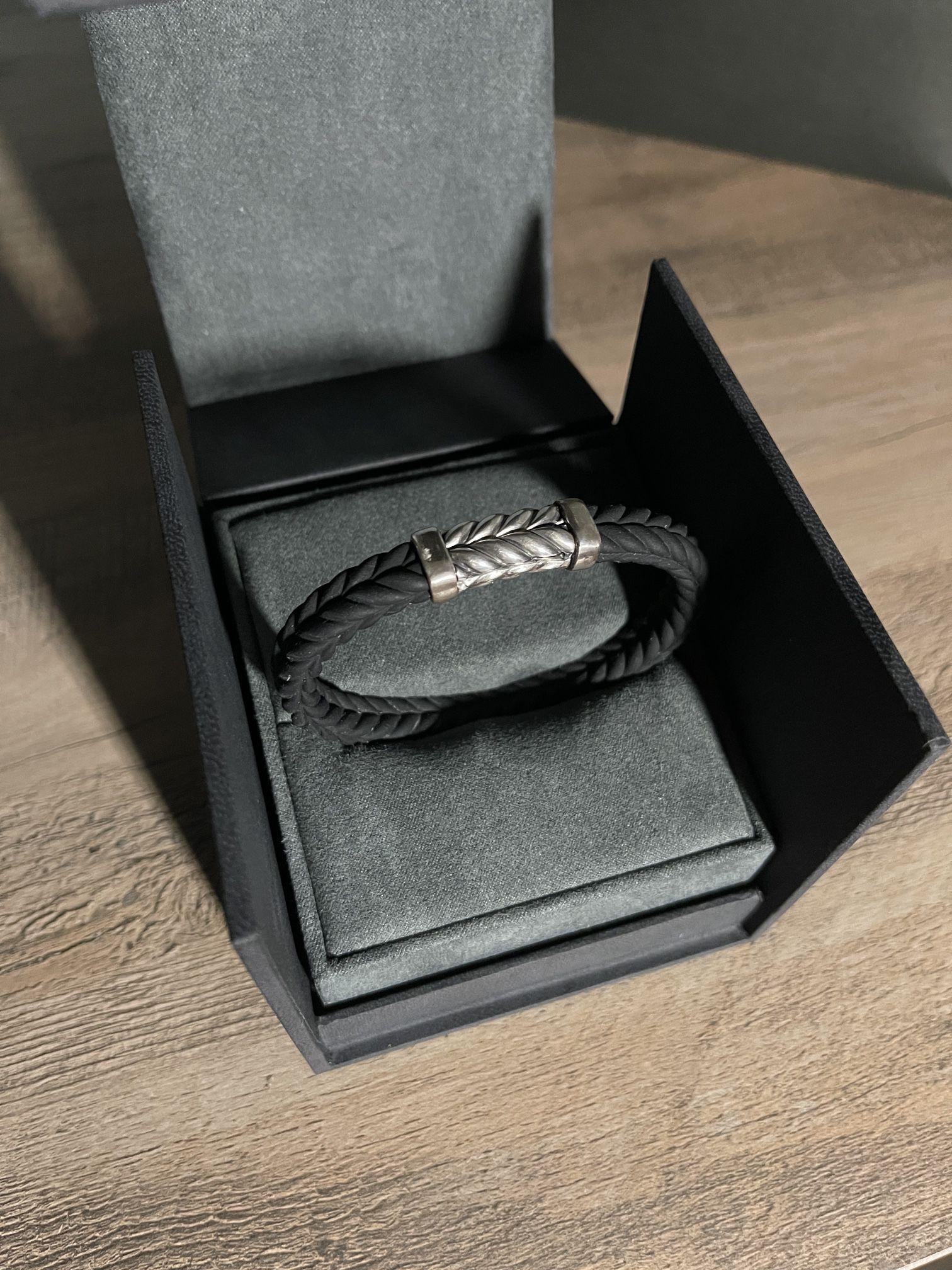 David Yurman Mens Chevron Rubber Bracelet