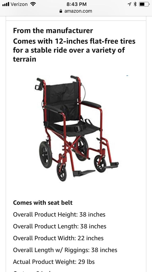 Brand new Drive Medical wheelchair for Sale in Milpitas, CA - OfferUp