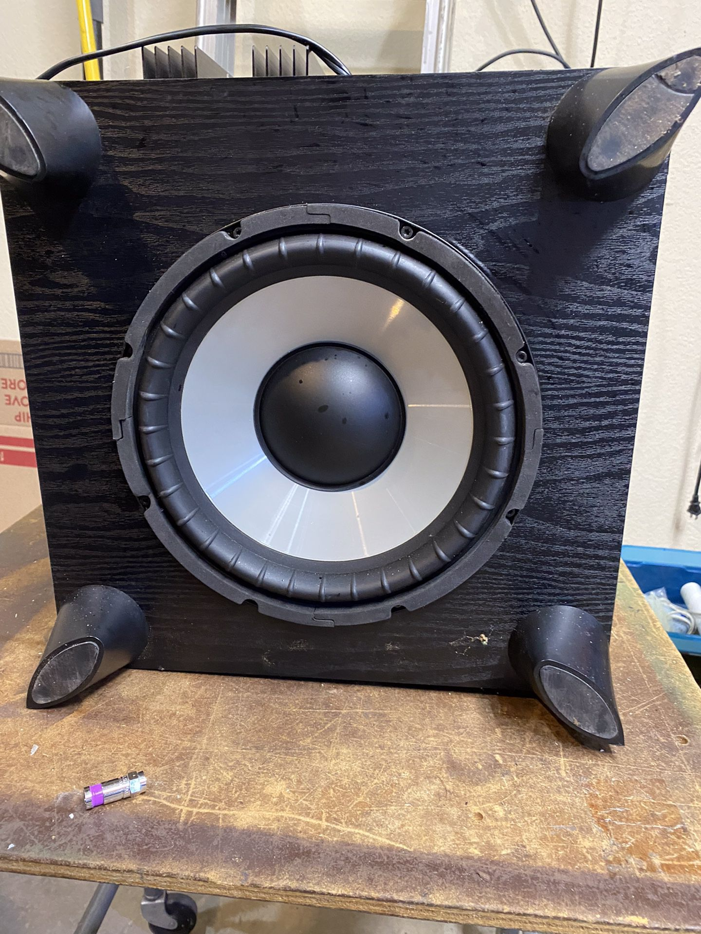 Powered Subwoofer  10 Inch Works Great