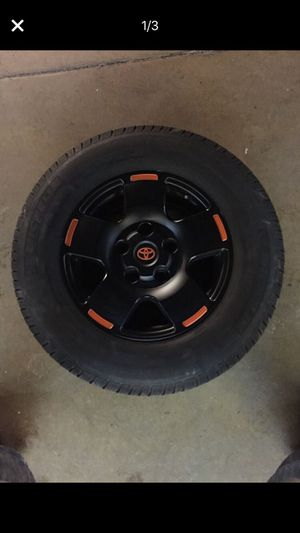 4 Michelin LT 275/65 R18 with Toyota Tundra Sequoia TRD wheels for Sale in Potomac Falls, VA