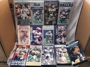 Photo Dallas Cowboys - 13 vintage VCR tapes.