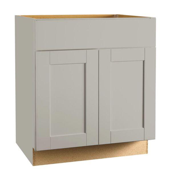 Shaker Assembled 30x34.5x24 in. Sink Base Kitchen Cabinet ...