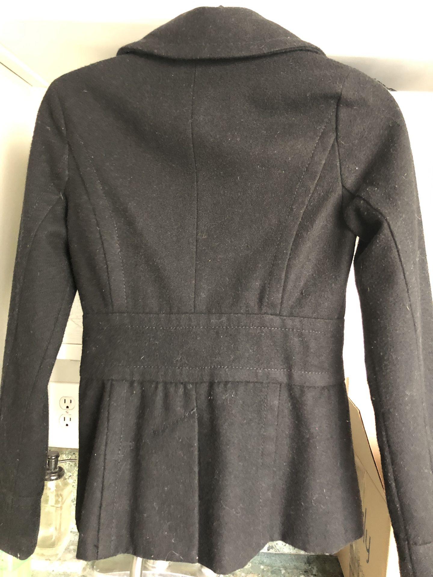 Brass Plum Nordstrom black hip length XS coat