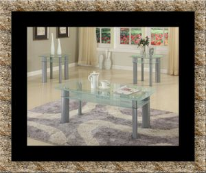 Glass white coffee table for Sale in Herndon, VA