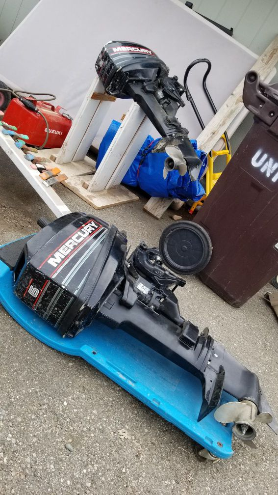 Boat motors mercury 6hp and evinrude 15hp priced to sell fast  for Sale in  Berthoud, CO - OfferUp