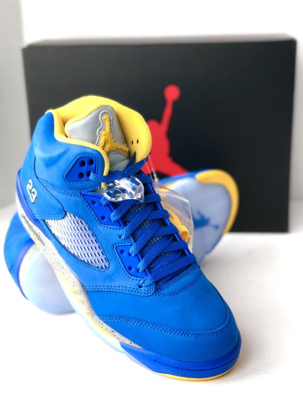 new styles 8c9b9 869bc AIR JORDAN 5 RETRO JSP 2019 LANEY VARSITY ROYAL LIGHT CHARCOAL-MAIZE CD2720-400  for Sale in Portland, OR - OfferUp