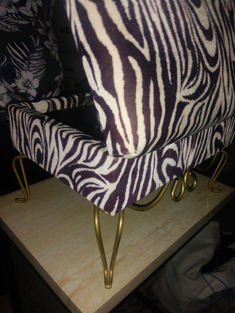 Zebra Printed Jewellery Chest