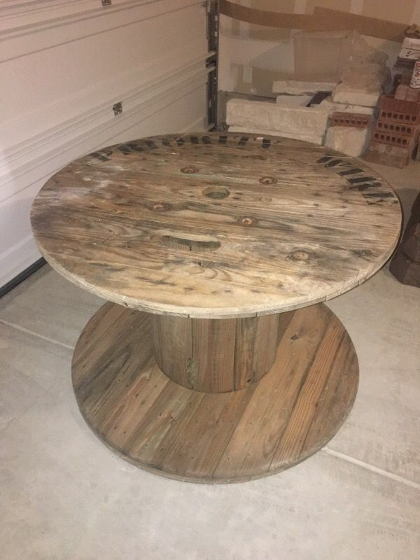 Large Wooden Spool Table For Sale In San Antonio Tx Offerup