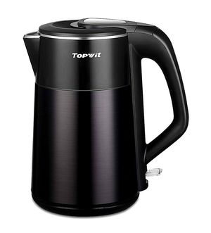 Photo New - Topwit Electric Kettle, Double Wall 304 Stainless Steel Integrated Seamless Interior, 1.7L Hot Water Heater Boiler, Coffee Kettle & Tea Pot