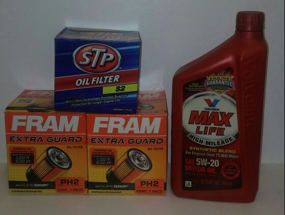 3 oil filters - 2 Fram PH2 & 1 STP S2 & 1 Qt 5w20 synthetic blend motor oil  for Sale in Toms River, NJ - OfferUp