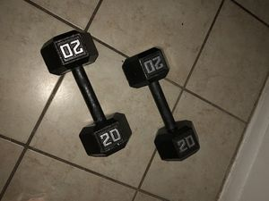 20 pounds dumbbells set for Sale in Orlando, FL