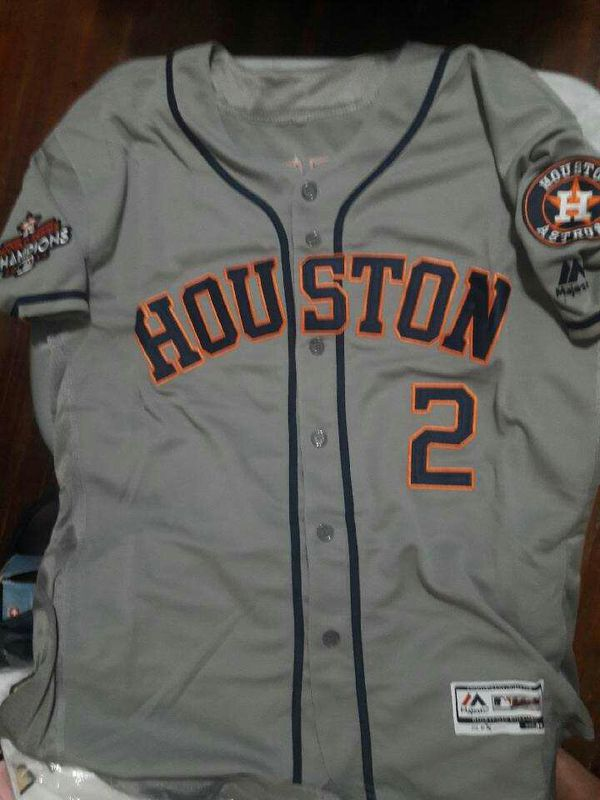 check out 810d9 7784c astros jersey Alex Bregman road grey mens new sizes large ONLY for Sale in  Houston, TX - OfferUp