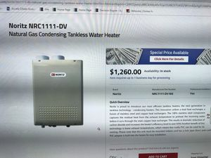 Tankless water heater NORITS NRC111-DC for Sale in Leesburg, VA
