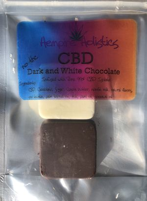 125mg CBD from Hemp White Chocolate and Dark Chocolate for Sale in Vancouver, WA