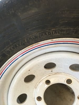 Never been used trailer tire and wheel. Bolt pattern is 6 on 5- 1/2 for Sale in WA, US