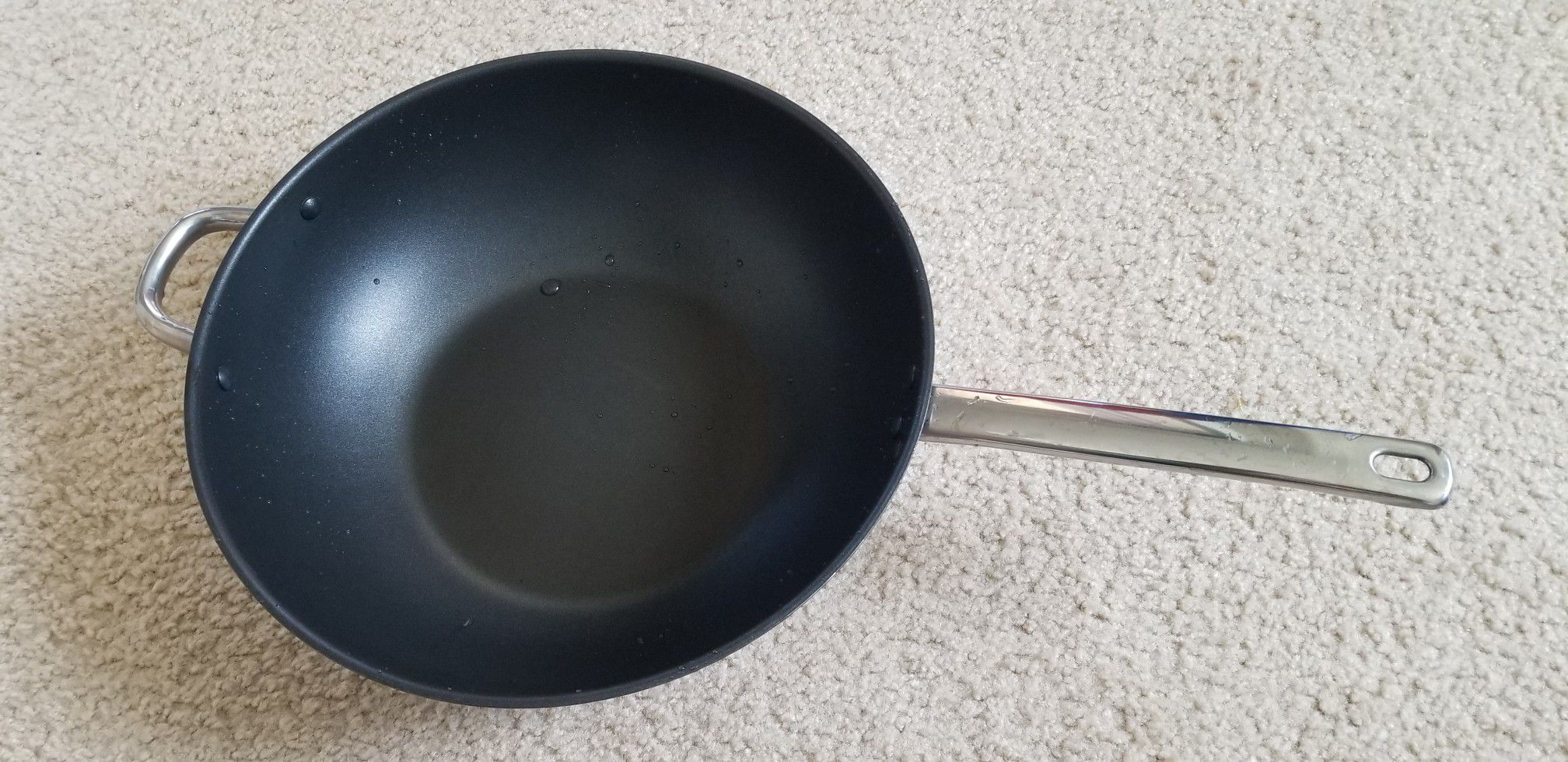 Wok Stainless steel, Coated with Teflon(R) Platinum Plus