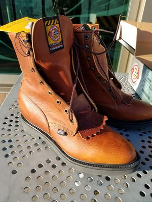 Justin Boots Roper lace-up work boots size 9 D brand NEW! for Sale in Gaithersburg, MD
