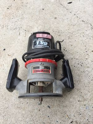 Craftsman router 1 1/2 hp for Sale in Burlington, NC