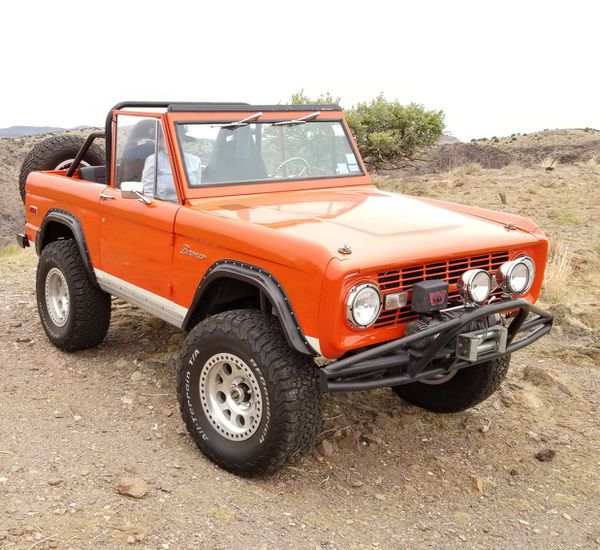Early Bronco Bumper With KC Lights And Warn Winch For Sale