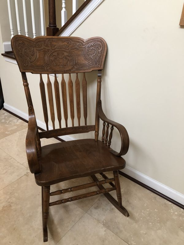 Enjoyable Vintage Solid Wood Rocker Rocking Chair Made In Yugoslavia Ocoug Best Dining Table And Chair Ideas Images Ocougorg