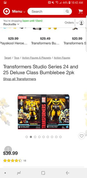 Transformers Studio Series 24 and 25 Deluxe Class Bumblebee 2pk for Sale in Silver Spring, MD