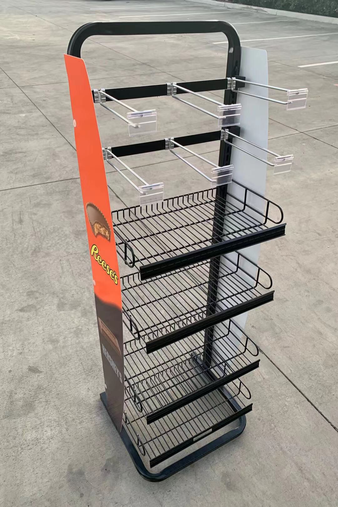 NEW 17x16x52 Inch Tall Commercial Retail Conveninece Store Product Candy Snack Rack Merchandise Shelf swapmeet restaurant store