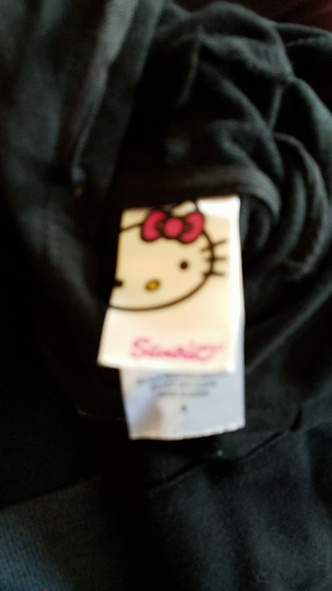Hello Kitty black pullover hoodie size small