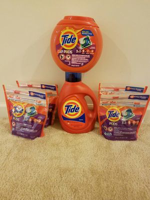 Tide laundry detergent bundle #2 - $40 not negotiable for Sale in Potomac, MD