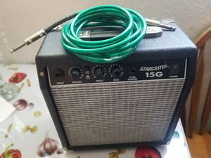 Photo Guitar amp with cable