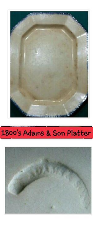 1800's Adams & Son Platter for Sale in Garner, NC