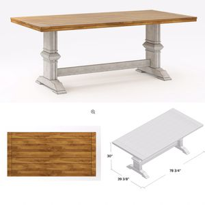Photo Solid Wood Table Top ONLY!! Good for DIY