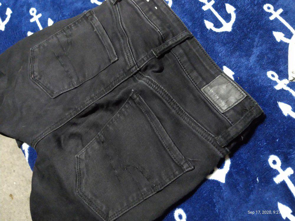 American Eagle black jeans size 0