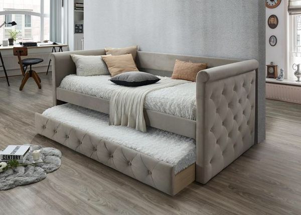 Gabriel taupe tufted daybed with trundle 2994 for sale in houston