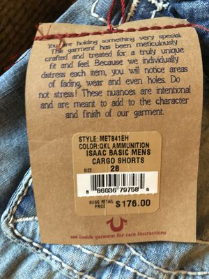 True Religion Jean Shorts size 28 (Never Worn) for Sale in Union, NJ