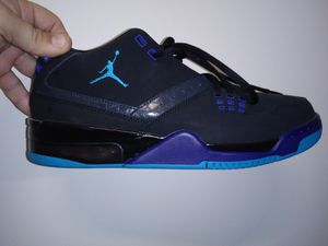 Nike Men's Jordan Flight 23 Off Court Shoes 317820-013 Black/Blue Lagoon size 9.5 for Sale in Franklinton, NC