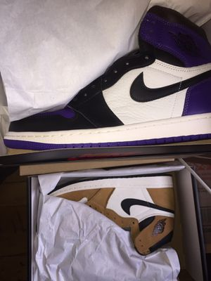Nike Air Jordan 1 Court Purple Size 9.5 Ds & Jordan 1 Rookie Of The Year size 10 Ds for Sale in Boston, MA