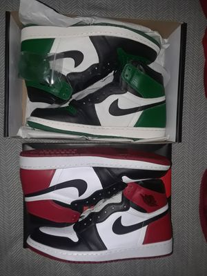 Air Jordan Retro 1's pine and black toe ds for Sale in Washington, DC