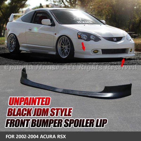 PU Unpainted Black Jdm Style Front Bumper Spoiler Lip For - 2002 acura rsx front bumper