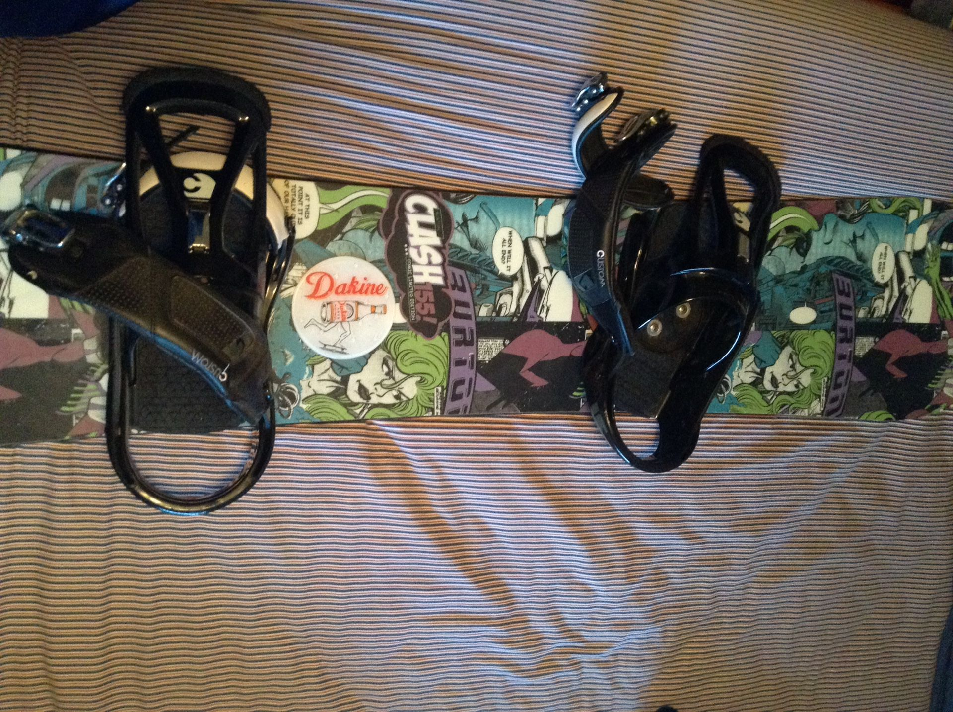 Burton snowboard w/ bindings