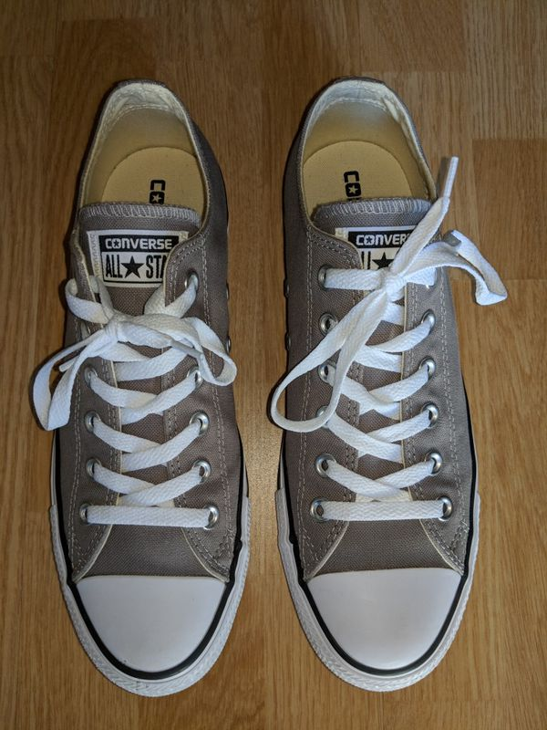 21ea5c4a9cad Converse All Star. Never worn out of the house. Light grey White. Men s 7.5