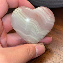 Pink Banded Onyx Heart Thumbnail