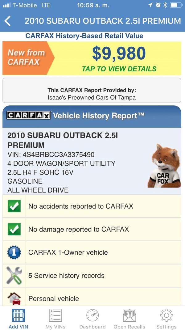 2010 Subaru Outback Automatic One Owner 4x4 Gas Saver 4 Cyl Rims Extra Clean Mint For Sale In