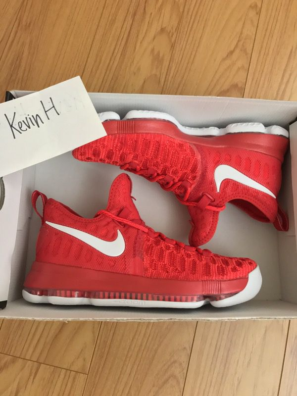 big sale 3f865 797b3 DS KD 9 university red kobe pg lebron Nike adidas og NMD ultra boost 350  Yeezy bred banned royal shadow ad warriors flyknit trainer dame 4 kyrie 1 2