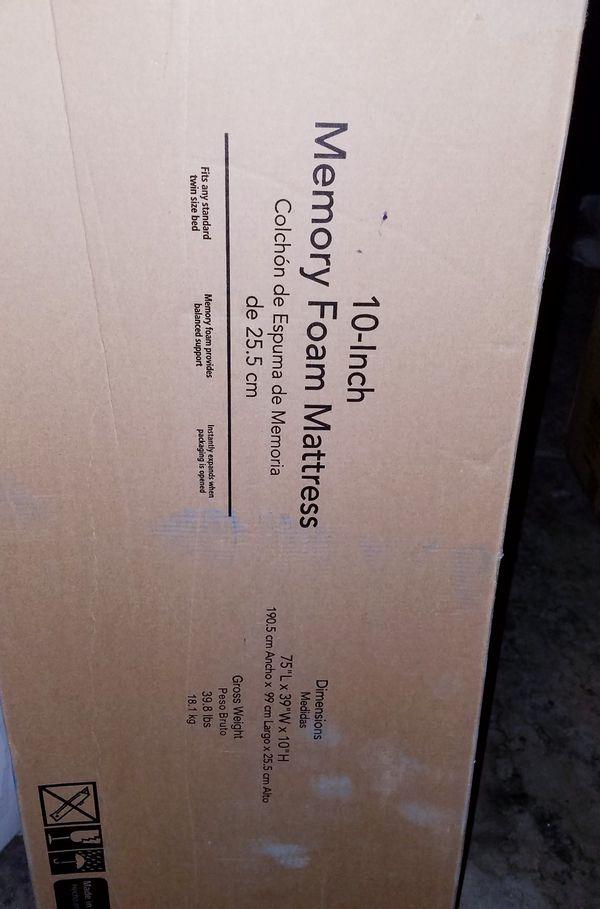10 Inch Memory Foam Mattress Twin For Sale In Las Vegas Nv Offerup