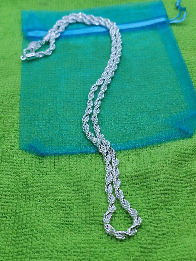 """925 Silver Rope/chain 4mm 20"""""""