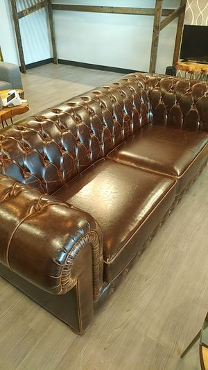 Brown Leather Sofa for Sale in Washington, DC