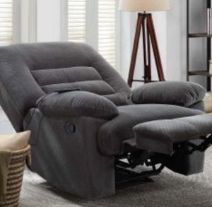 New!! Emory foam massage recliner, relaxing chair, grey cloth for Sale in Phoenix, AZ