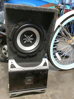 Amp, sub, monster cables for Sale in Spokane Valley, WA