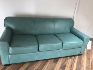 Leather pullout sofa bed - brand new for Sale in Cleveland, OH