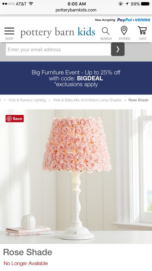 Pottery barn rose lamp shade for sale in chino hills ca offerup 25sold aloadofball Images